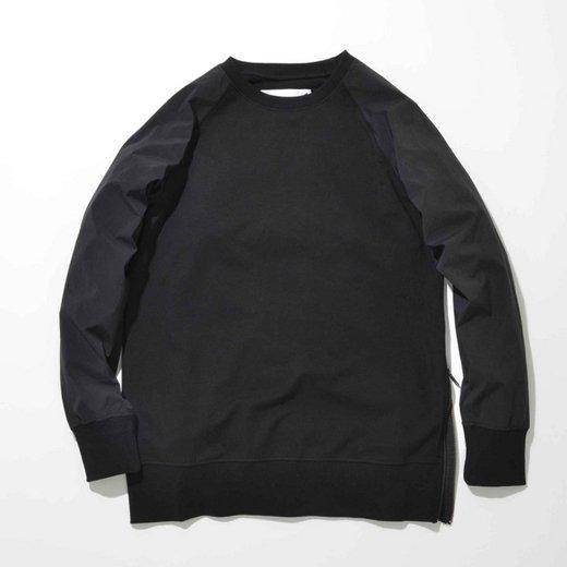 【40%OFF】SUPERTHANKS/スーパーサンクス  袖切り替えスウェット/ブラック×ブラック