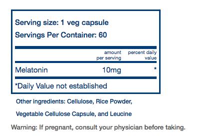 (取)Melatonin 60カプセル Vital Nutrients社 [2]