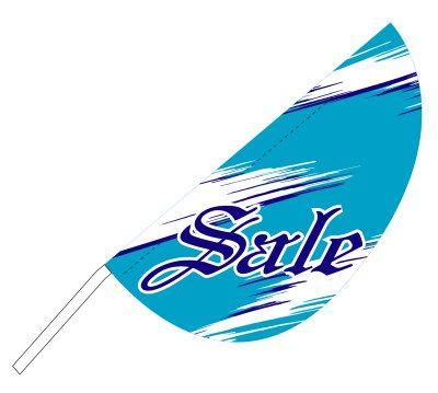 リーフフラッグ2(SALE)旗ポールセット ブルー/紺