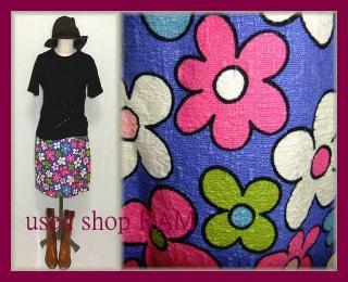 花柄ポップスカート