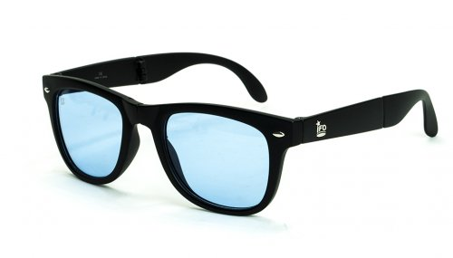 NEPTUNE - sunglasses- matt black (frame) / clear blue(lens) サングラス / 折り畳み式/アイエフオー