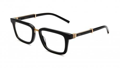 9five BISHOP Black & 24k Gold Clear Lens Glasses ビショップ / ブラック&24Kゴールド / クリアレンズ / ナインファイブ