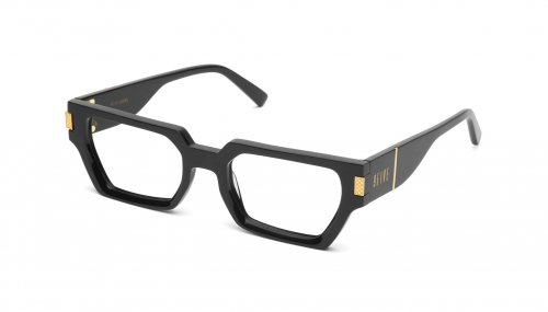 <img class='new_mark_img1' src='https://img.shop-pro.jp/img/new/icons5.gif' style='border:none;display:inline;margin:0px;padding:0px;width:auto;' />9five LOCKS Black & 24k Gold Clear Lens Glasses ロックス  / ブラック&24Kゴールド / クリアレンズ / ナインファイブ