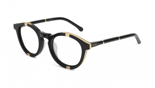 <img class='new_mark_img1' src='https://img.shop-pro.jp/img/new/icons5.gif' style='border:none;display:inline;margin:0px;padding:0px;width:auto;' />9five Groove Black & 24K Gold Clear Lens Glasses グルーブ / ブラック&24Kゴールド / クリアレンズ / ナインファイブ