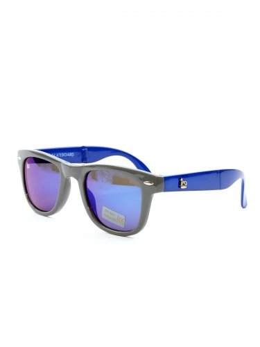 IFO SUNGLASSES -folding type- grey&blue(frame) / blue mirror(lens) フォールディングサングラス / アイエフオー