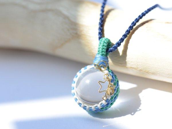 水晶丸玉のカラフル蝋引き紐ネックレス , 貴石工房パックOnline Shop|ハンドメイド天然石アクセサリー
