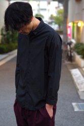 NO CONTROL AIR 60/-コンパクトコットンライトタイプライターシャツ【Black】