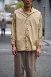 NO CONTROL AIR 60/-コンパクトコットンライトタイプライターワイドシャツ【Beige】