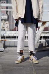 RICE NINE TEN APART LENGTH JEANS【White】