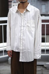 <img class='new_mark_img1' src='https://img.shop-pro.jp/img/new/icons20.gif' style='border:none;display:inline;margin:0px;padding:0px;width:auto;' />RICE NINE TEN APART LENGTH SHIRT【Grey Stripe】