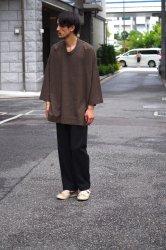 FIRMUM コットンポリエステル混紡糸2ウェイストレッチツイルイージーパンツ【Black】