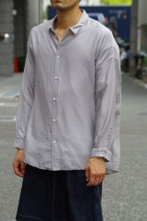 NO CONTROL AIR リヨセル&ナイロンカルゼワイドシャツ【Silver Grey】