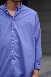 NO CONTROL AIR 80/1 TC タイプライターワイドシャツ【Hyacinth Blue】