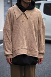 RICE NINE TEN JAZZ TEREKO KNIT OUTERWEAR POLO【Beige】