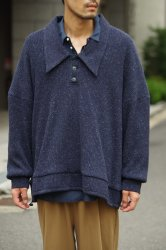 RICE NINE TEN JAZZ TEREKO KNIT OUTERWEAR POLO【Navy】