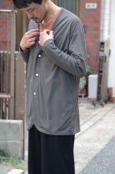 NO CONTROL AIR ポリエステルスパン天竺カーディガン【Charcoal Grey】