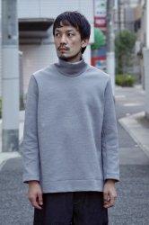 NO CONTROL AIR メランジポリエステルダンボールニットタートルネック【Light Grey Top】
