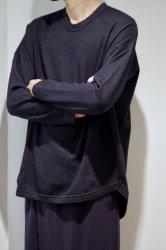 FIRMUM ウルグアイウールダブルジャガードワイドニット【Navy】