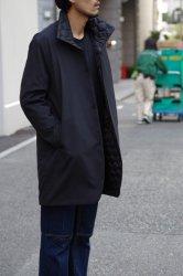 NO CONTROL AIR ポリエステルリンクルタフタスタンドカラーコート【Black】