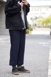 FIRMUM スーパー100Sウールローデンライクイージーパンツ【Navy】