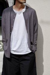 NO CONTROL AIR トリアセテート&ポリエステルスラブボイルノーカラーシャツ【Slate Gray】