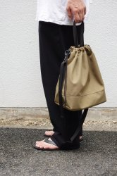 This is… Cordura Drawstring Shoulder Bag【Beige】