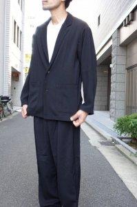 LAMOND【ラモンド】 KERSEY STRECH WIDE JACKET【BLACK】