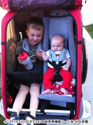 【即納】スーリー・チャリオット・幼児用快適リクライニングシート<Thule Infant Sling>★生後一ヶ月から6ヶ月(目安:身長75cm、体重10kg)くらいまで使えます。【画像3】