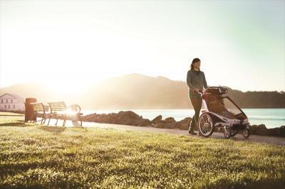 【レンタル2000円/日】スーリー・チャリオット・クーガ1+サイクリング(色:レッド)<Thule Chariot Cougar1+Cycle> + ストローラー(前輪)付き=ベビーカーOK★1人乗り【画像4】
