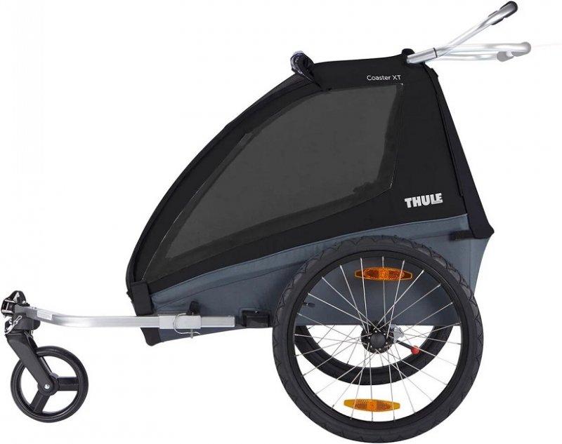 【即納】スーリー・コースター・XT<THULE COASTER XT>チャイルドトレーラー 1歳から7歳くらい 年子・双子対応 115cmくらい 積載45kg LEDライト付  ベビーカー前輪付【画像2】