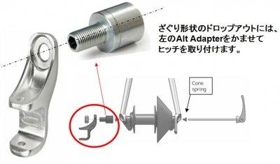 【即納】THULE用QR軸用アダプター<Alt Adapter>クイックリリース用-カーボン車、その他特殊車へのアダプター。車軸フードが付いているスポーツ車に対応します。【画像3】