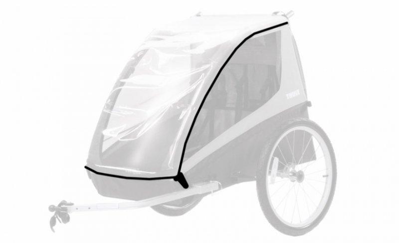 【即納】スーリー・コースター・XT<Thule Coaster XT>防水カバー付雨天対応 チャイルドトレーラー お子様1歳から7歳 二人乗り 身長115cm 積載45kg LEDライト 前輪付属 【画像2】