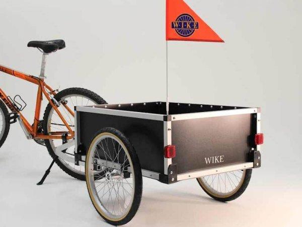 【即納】ワイク・カーゴ・バディートレイラ—<Cargo Buddy Trailer> 希少カナダ製 積載:45 kg 箱内径: 56x 78 x 30cm 通り幅:81 cm カラー:ブラック【画像3】