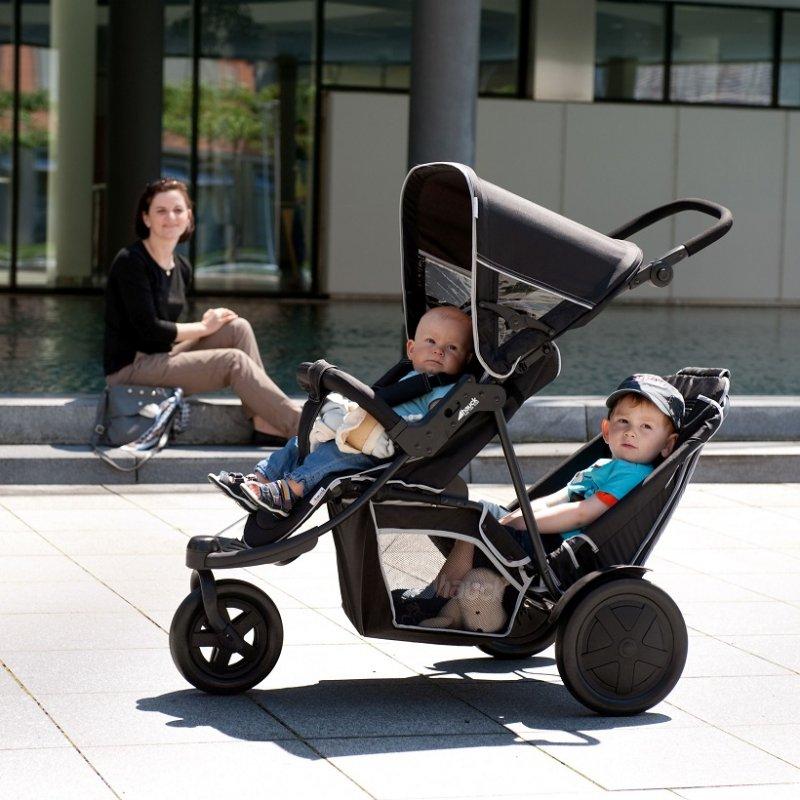 【即納】ドイツの名門ハウク・フリーライダー<HAUCK FREERIDER> 二人乗り 双子 年子 ベビーカー おしゃれ 多機能 縦型 体重15kgまで カラー:ブラック【画像4】