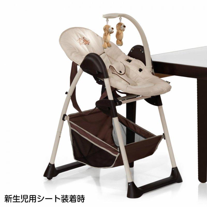 【1月10日入荷】ドイツの名門ハウク・シッティン・リラックス<HAUCK Sit'n Relax>多機能ハイローチェア 新生児から体重15 kg シート2モード カラー:ZOO【画像3】