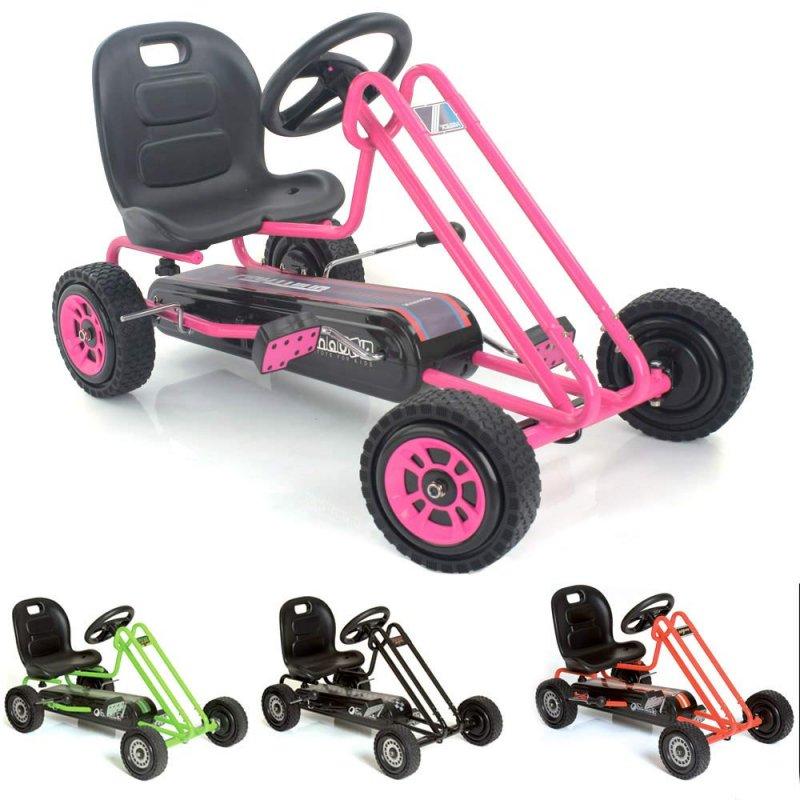 【即納】ドイツの名門ハウク・ペダル・ゴーカート<Hauck Lightning Pedal Go Kart> 速走・機敏操作 頑丈フレーム しっかりグリップ 欧米のベストセラー  カラー:ピンク【画像4】