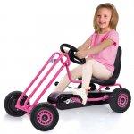キックバイク、乗用玩具、こどもおもちゃ  【即納】ドイツの名門ハウク・ペダル・ゴーカート<Hauck Lightning Pedal Go Kart> 速走・機敏操作 頑丈フレーム しっかりグリップ 欧米のベストセラー  カラー:ピンク