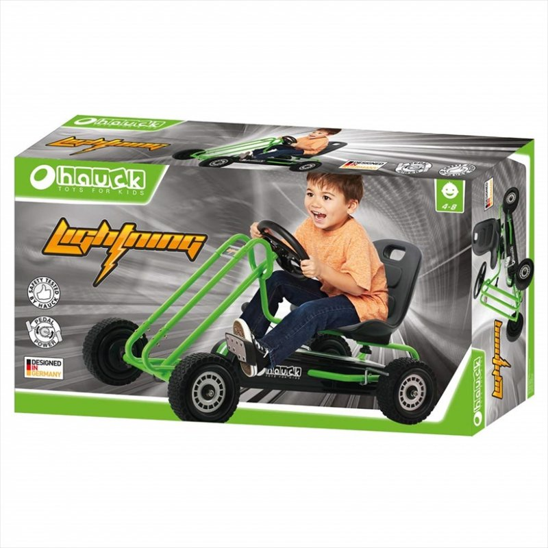 【即納】ドイツの名門ハウク・ペダル・ゴーカート<Hauck Lightning Pedal Go Kart> 速走・機敏操作 頑丈フレーム しっかりグリップ 欧米のベストセラー  カラー:グリーン【画像4】