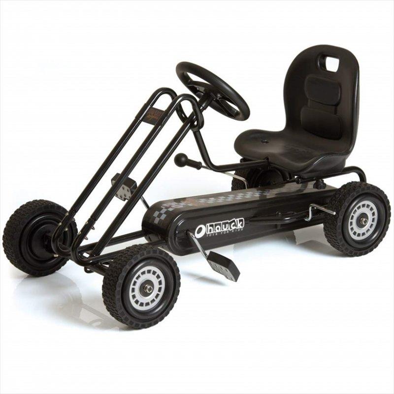 【即納】ドイツの名門ハウク・ペダル・ゴーカート<Hauck Lightning Pedal Go Kart> 速走・機敏操作 頑丈フレーム しっかりグリップ  カラー:ブラック【画像2】