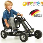 キックバイク、乗用玩具、こどもおもちゃ  【即納】ドイツの名門ハウク・ペダル・ゴーカート<Hauck Lightning Pedal Go Kart> 速走・機敏操作 頑丈フレーム しっかりグリップ  カラー:ブラック