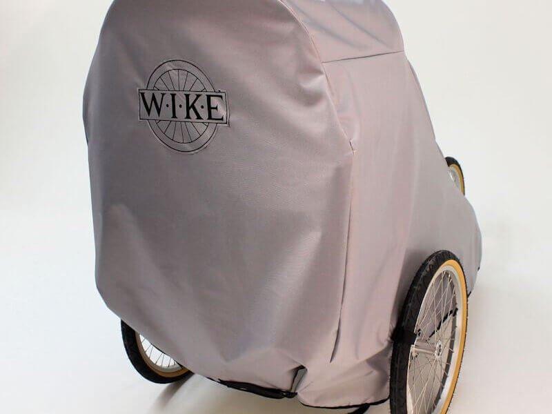 【即納】ワイク・2人乗りチャイルドトレーラー用野外保管カバー<Wike Outdoor cover double>高耐久ファブリック素材の保護カバー・カナダ製ハンドメイド品 カラー:グレー