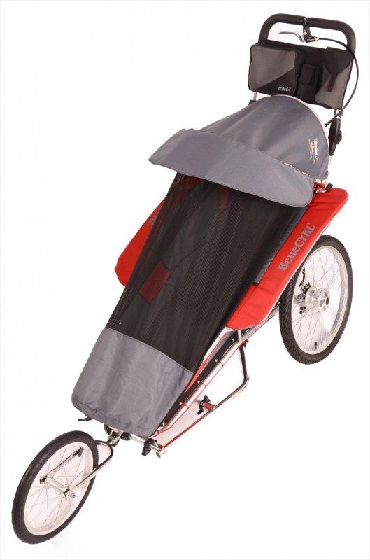 【取り寄せ】ベネサイクル福祉トレーラー・ジュニア<benecykle-junior> 適合4〜10歳 身長140cmくらい・積載60kg・特注ハンドメイド 色・レッド