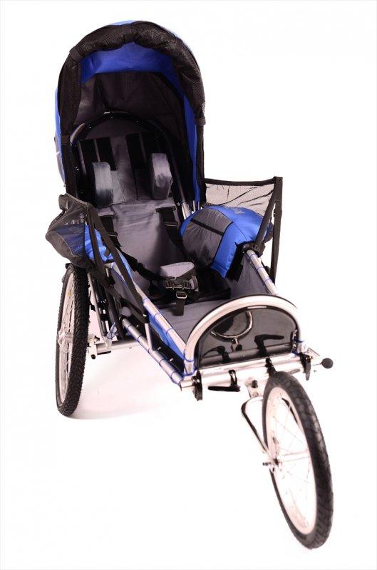 【取り寄せ】ベネサイクル福祉トレーラー・マックス<benecykle-max> 適合10歳以上 身長180cmくらい・積載75kg アウトドア・自転車旅行・マラソン・色・ブルー【画像2】