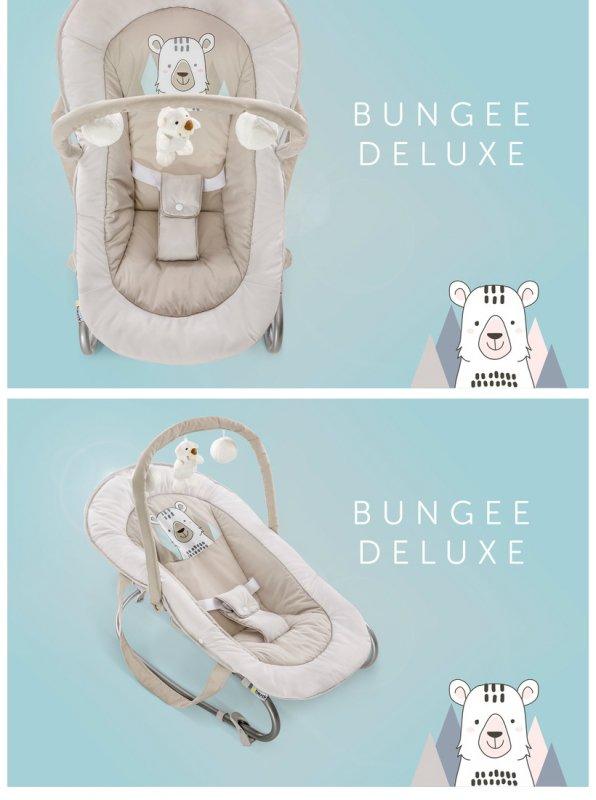 【即納】ドイツの名門ハウク・バンジーデラックス<Bungee Deluxe>バウンサー 新生児 ゆらゆら ハイローチェア  ベビーベッド 色フレンド【画像3】