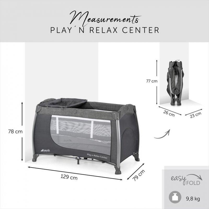 【即納】ハウク・プレイン・リラックスセンター<Hauck Play'n Relax Center>プレイヤード ベビーサークル 折りたたみベビー ベッド 【画像2】