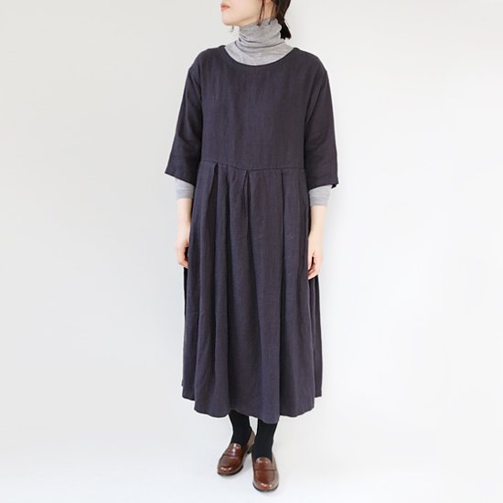 Style+Confort<br>ノーカラーワンピース<br>Navy