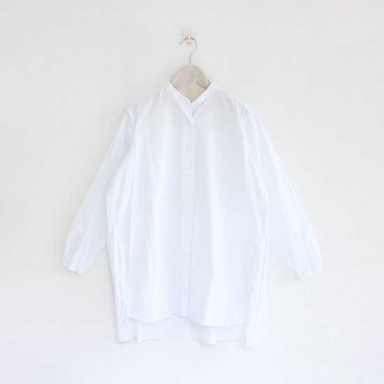 Atelier d'antan | スタンドカラーシャツ〈 Appel 〉White | A232152TS204
