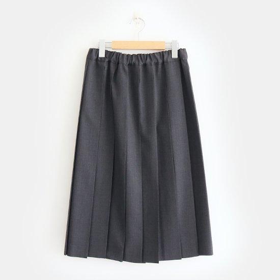 Charpentier de Vaisseau | サマーウールプリーツスカート〈 Belle 〉Grey | 003191PS319