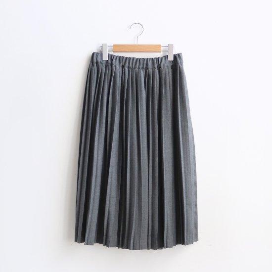 Charpentier de Vaisseau | ウールナロープリーツスカート〈 Brenda 〉Grey | C003172PS216