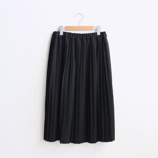 Charpentier de Vaisseau | ウールナロープリーツスカート〈 Brenda 〉Black | C003172PS216